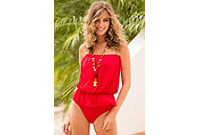 TULLE ONE-PIECE SWIMSUIT