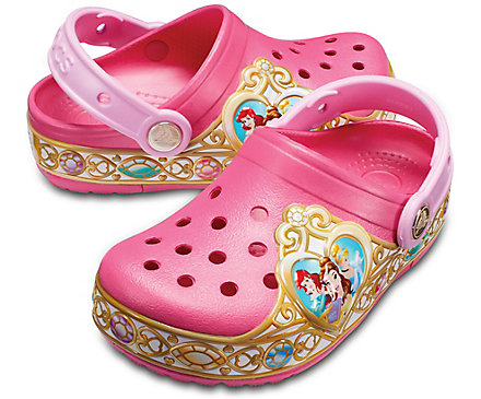 Kids Crocband Disney Princess Lights Clog