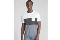Short Sleeve Colorblock Pocket T-Shirt