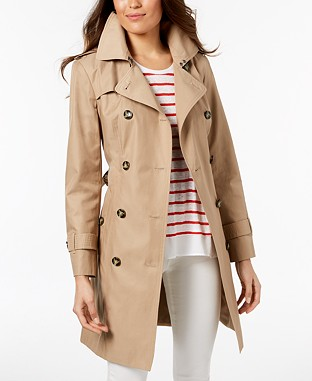 London Fog Hooded Double-Breasted Trench Coat  From €113.30