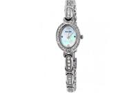 Pearl Dial Stainless Steel Ladies Watch 96L199