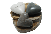New Hand-carved Heart Stone Paper Weight